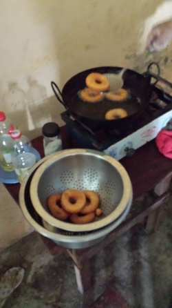 I am making donuts with my cooking class.